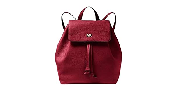 08cdc2114077 Michael Kors Junie Medium Pebbled Leather Backpack Maroon - MK30T8TX5B2L-550:  Amazon.ae: GlobalBrands_uae