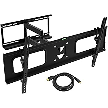 ematic tv wall mount kit with 12 degree tilt 180 degree swivel and hmdi cable 19. Black Bedroom Furniture Sets. Home Design Ideas