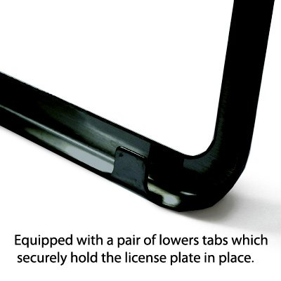Ford Mustang Cobra Black Stainless Steel License Plate Frame Au-Tomotive Gold INC