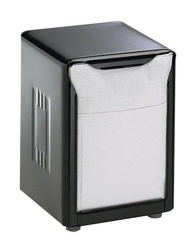 (San Jamar H985BK Tabletop Napkin Dispenser, Low Fold, 3 3/4 x 4 x 5 1/2, Capacity: 150, Black)