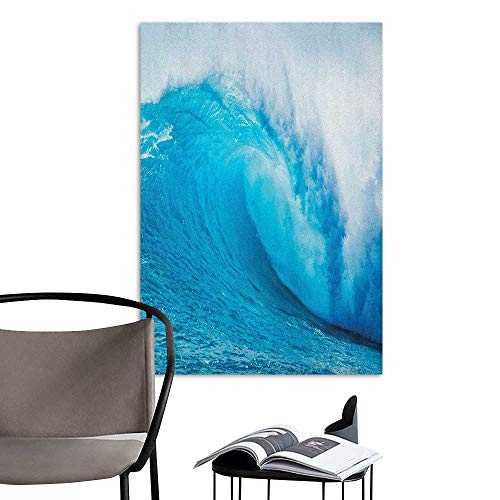 Wall Mural Wallpaper Stickers Ocean Wavy Ocean Adventurous Surfing Extreme Water Sports Summer Holiday Destination Print Aqua White Decoration The Decorations Living Room W8 x H10 for $<!--$9.90-->