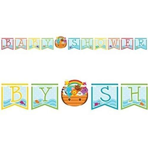 hersrfv home Noah's Ark Baby Shower Shaped Ribbon Banner