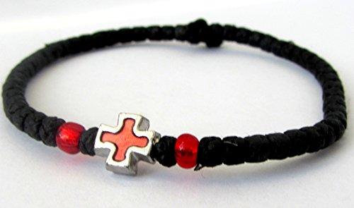 Handmade Christian Orthodox Komboskoini, Prayer Rope Thin Knots Black - 5605 ()