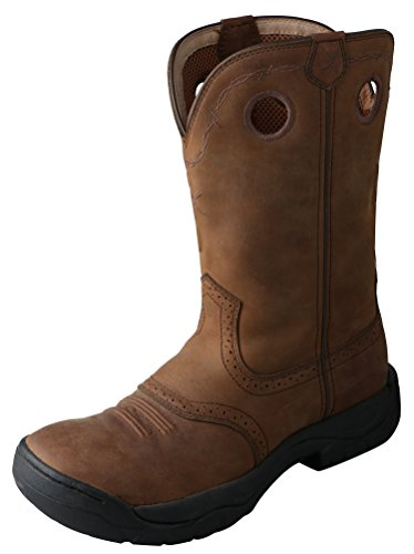 Twisted X Men's All Around Boot Distressed Saddle (Rubber Boots Sole)