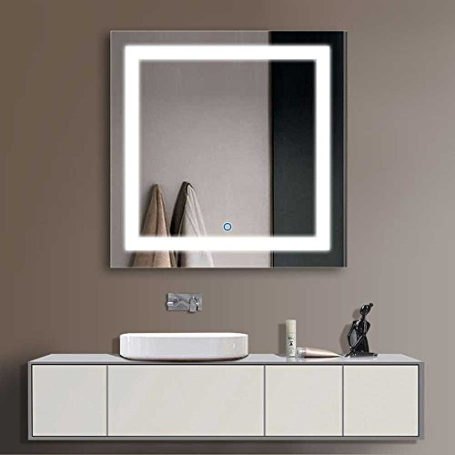 """Decoraport 36"""" Square LED Bathroom Mirror Illuminated Lighted Vanity Wall Mounted Mirror with Touch Button (A-CK168-E) by Decoraport"""
