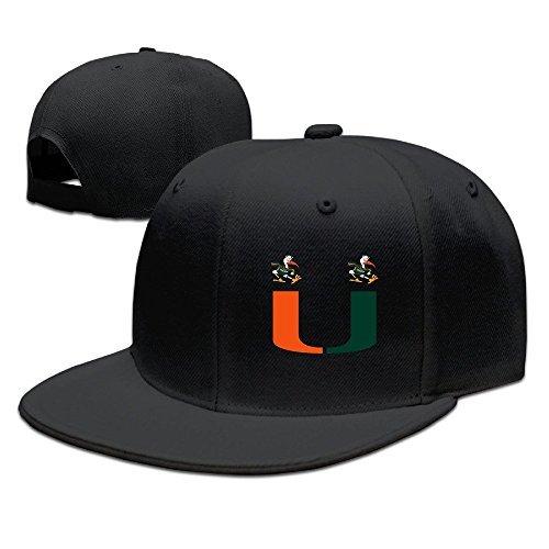 Miami Adult Hat (YQUE Unisex-Adult University U Of Miami Mascot Trucker Cap Hat Black)