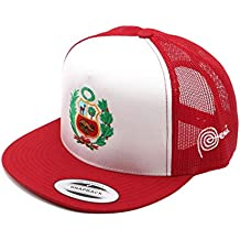 Hot4TShirts Escudo Marca Peru Hat – Trucker Mesh Snapback Cap – Adjustable - Printed In USA