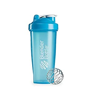 28 OZ. Blender Bottle Classic Shaker Cup with Loop Top FULL COLORS (Full Aqua)