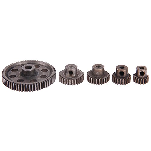 Truck Parts Gears - Brightric 5pcs/Set Differential Main Metal Spur Motor Gear RC Toys Part for HSP Truck
