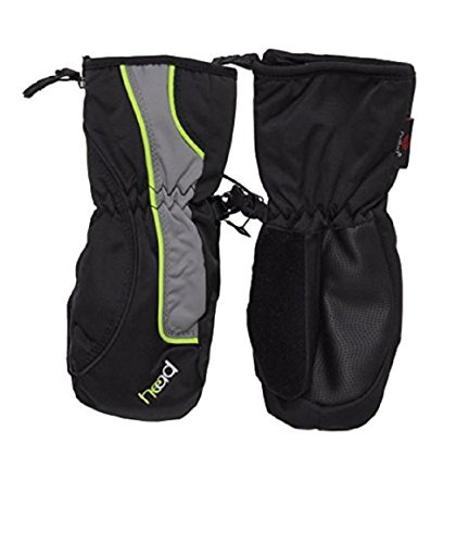 (Head Jr. Ski Mitten Sweet Black/Gray/Dayglo XSmall)