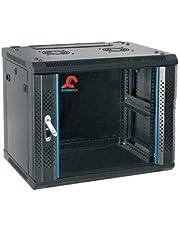 منصة رفوف لحفظ الخوادم بتصميم قابل للتعليق على الحائط بسعة 7 وحدات من سيستم ماكس بباب زجاجي 600 ملم * 450 ملم، 33 سم - SM-W7U-64