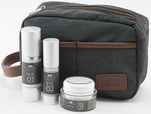 Evermore Skin Care Set, Anti-Aging, Face Serum, Eye Serum, Moisturizer & FREE Waterproof Travel Bag! Reduce Puffiness, Dark Circles, Crows Feet, Under-Eye Bags, Natural, Hypoallergenic, Sensitive Skin