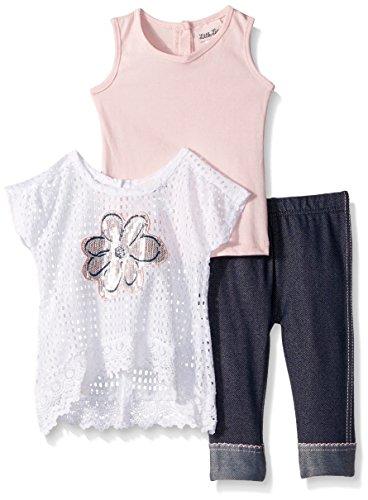 Girls Pink Capri Pants - 9