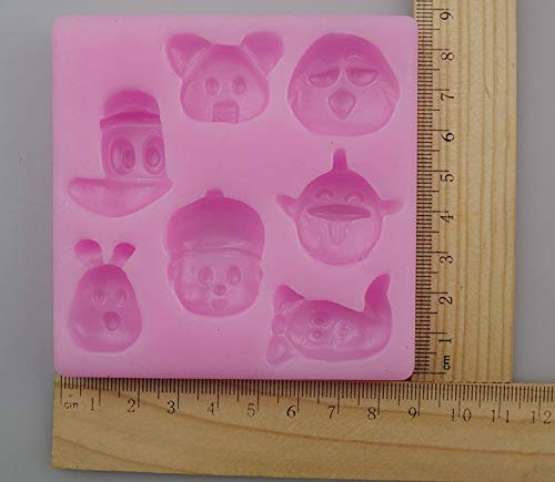 1 piece Q-616 POCOYO Famous cartoon characters diy handmade chocolate mold clay mold cake silicon mold