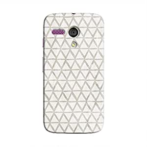 Cover It Up - Triangle Print Grey Moto G Hard Case