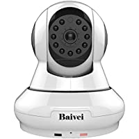 Baivei Home Security Camera System 1080P wireless 355°Panoramic Ip Camera With Cloud Service /Night Vision for Motion Detection and Two Way Talking for iPhone/Android Phone/ iPad(White)