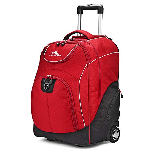 High Sierra Unisex Powerglide Wheeled Laptop Backpack, 17-inch High School or College Laptop Backpack for Students, Wheeled Business Laptop Backpack for Professionals, Ideal Gaming Laptop Backpack