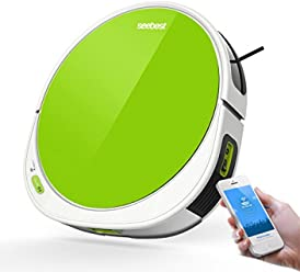 seebest WiFi APP Control Robot Vacuum Cleaner with V Rolling Brush, Wet Mopping, Time