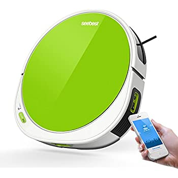 seebest WiFi APP Control Robot Vacuum Cleaner with V Rolling Brush, Wet Mopping, Time Schedule F780A