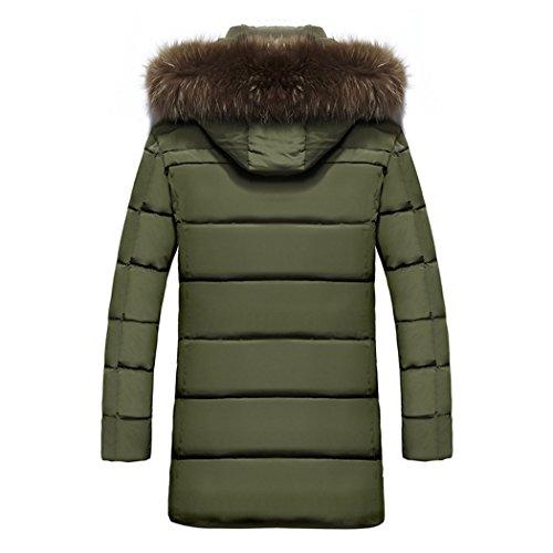 xxxxl Paragrafo Giacca Green Il E Fashion Cotone Lungo cap Indumenti Di Uomo Spessa Sau Army Cappotto Lunga Bqa5q