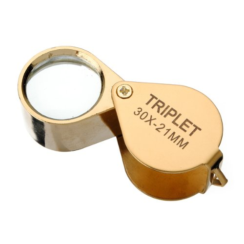 Glass Lens Jeweler Loupe Magnifier (30x21mm)