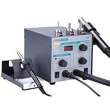 ... digital Pistola de aire caliente Antiestático Temperatura constante Soldador sin plomo Sin soldadura, enchufe: Amazon.es: Bricolaje y herramientas