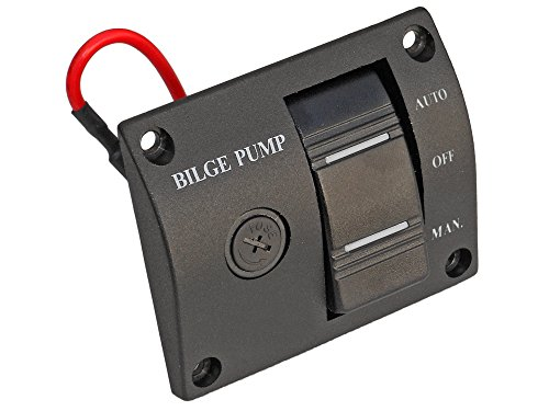 12v Bilge Pump 3-way Lighted Rocker Switch Panel -Boat, Caravan, Rv- Five Oceans BC-1342 - 3 Way 12 Volt Rocker Switch