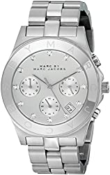 Marc Jacobs Blade SS Chronograph Bracelet Women's Watch - MBM3100