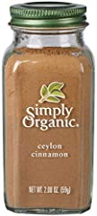 "KEY FEATURES: Simply Organic Ground Ceylon Cinnamon is potent, ""true"" cinnamon (Cinnamomum verum). It has a more complex, and yet more delicate, flavor profile than the more common cassia cinnamon. Its fruity and slightly sweet taste and warm..."