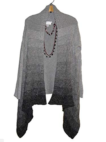 $109 Coldwater creek Women's Winter Fall cardigan Cape sweater Jacket only,necklace not included L XL1X2X3X(Plus 2X No Gray)
