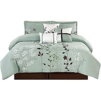Amazon Com Legacy Decor 7 Pcs Floral Embroidered