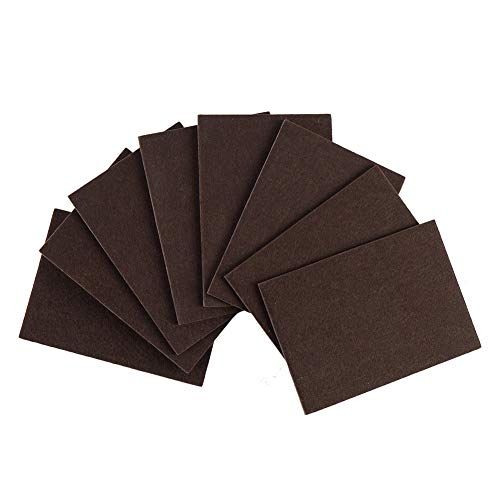 Furniture Pads Non Slip 8pcs 4.25X6 '' Furniture Leg Pads,Furniture Gripper, Self Adhesive Rubber Feet Pads Anti Scratch Brown for Hardwood Tile Wood Floor Chair Leg Floor Protectors by STAR SMART