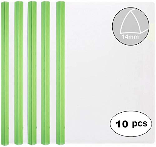 (Clear Report Covers with Clear Color 14mm Sliding Bar (14C, 100-sheet Capacity), Transparent Resume Presentation File Folders Organizer Binder, for Letter/A4 Size Paper, 10 Pcs, Clear Green)