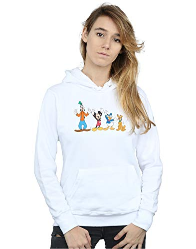 Mickey Blanco Friends Disney Capucha Mouse Mujer aYnw45xCqR