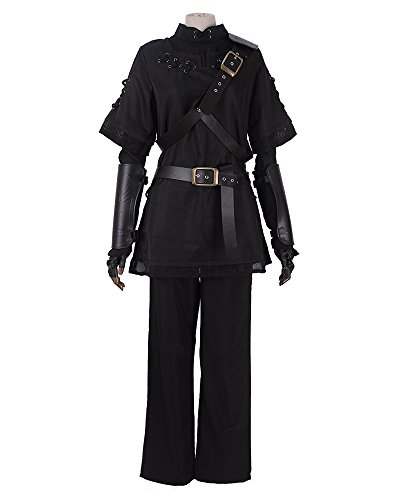 Miccostumes Men's Pure Black Dark Link Cosplay Costume (men l) - Dark Link Costumes