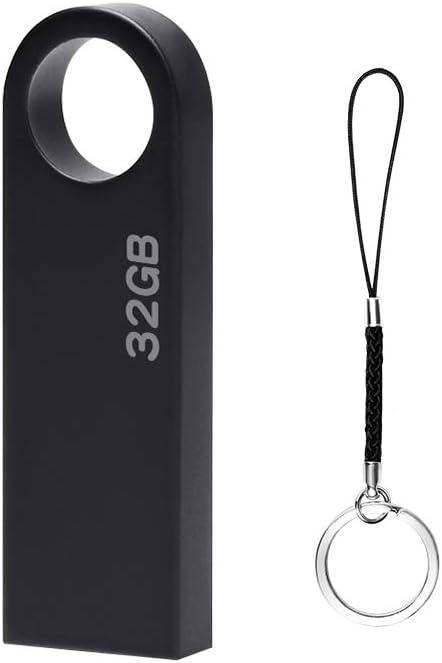 Memorias USB 32GB, Mini Pendrive 32GB USB Unidad Flash Impermeable Memoria Stick 32 GB Colgante para Almacenamiento de Datos Externo