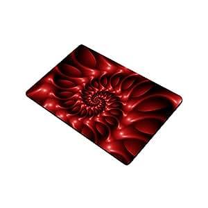 """Artsadd brillante rojo en espiral para interiores/al aire libre Felpudo decoración alfombra 23.6""""x 15.7"""""""