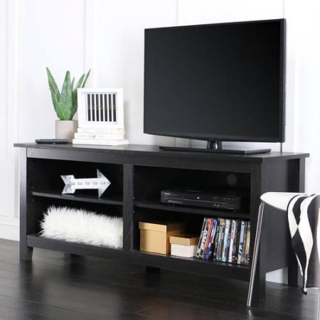 Adjustable Shelving Wood TV Stand for TVs up to 60