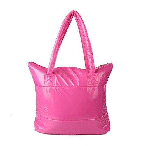 Paymenow Women Feather Sponge Bag Handbag Space Girl Feather Cotton Down Pink Shoulder Bale Bag Totes EqESnpwxU