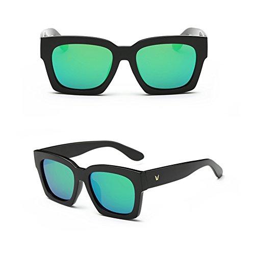 BENNINGCO Personality reflective glasses color film Sunglasses trend Sunglasses