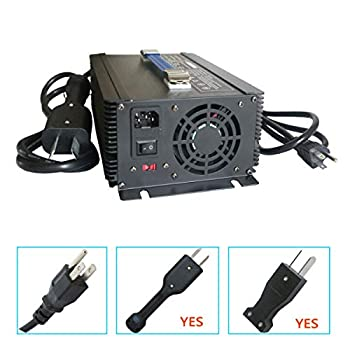 Image of AC Adapters Abakoo Golf Cart Battery Charger 36V 20A for Club Car EzGo TXT with Crowsfoot Style Connector Crowfoot Plug