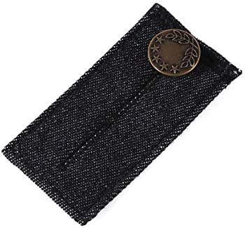 Tivollyff 丈夫で軽量なウエスト拡張バックル縫い込み式メタルフックウエストバンドエクステンダーフック&ズボン用アイクロージャー