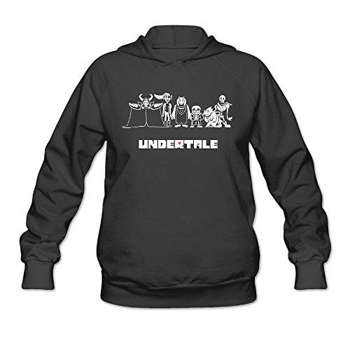 AK79 Women's Sweatshirt Under Characters Tale Size S Black