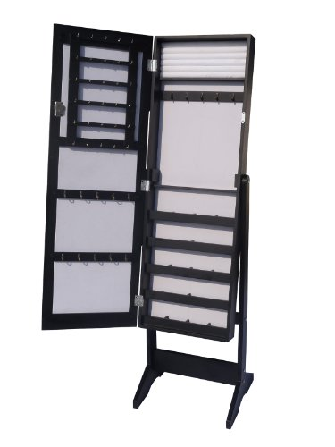Schmuckschrank Spiegelschrank in Schwarz DS909S