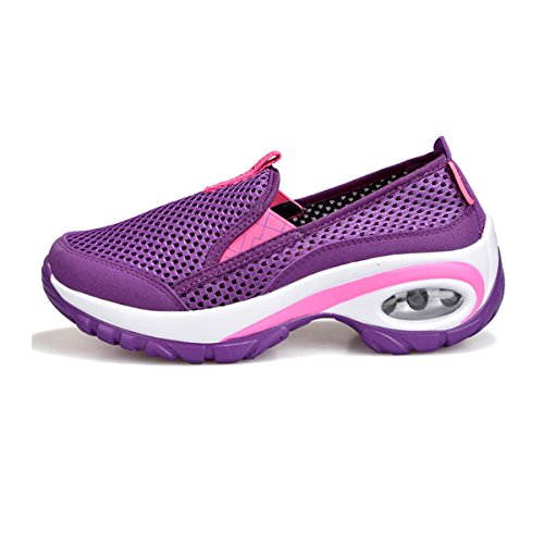 CHNHIRA Summer Women's Breathable Casual Mesh Sports Square Dance Shoes Violet 4SBEZb