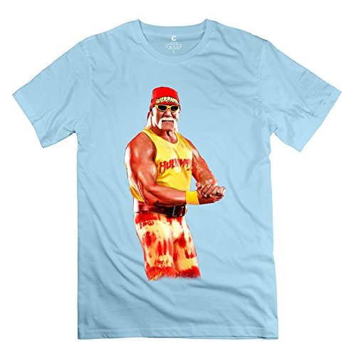 Popular Hulk Hogan Body Building Men's T-shirt SkyBlue Size XL