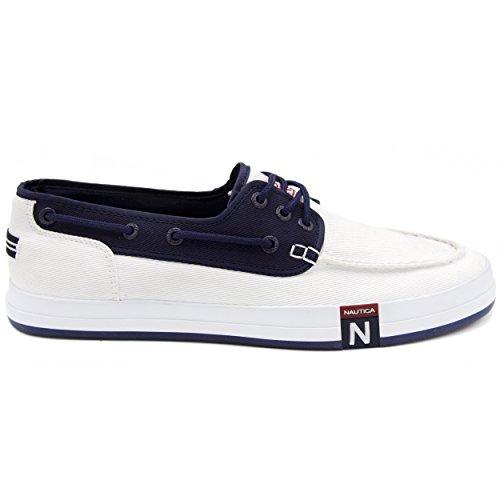 Nautica Shoe 3 Men's Peacoat Spinnaker Boat White R6wRSxnqrC