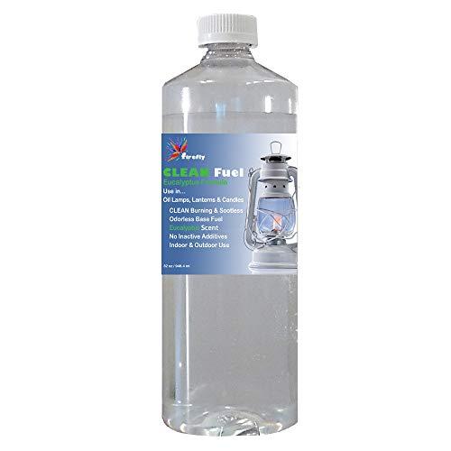 Firefly Eucalyptus CLEAN Fuel Lamp Oil – Smokeless/Virtually Odorless – Longer Burning – 32 Ounces