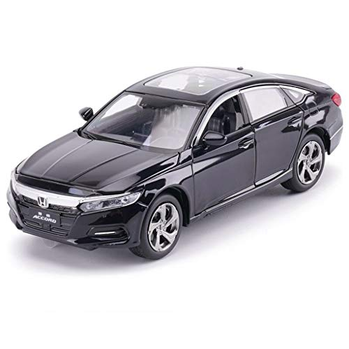 SXET-Model car Model Car Die-Casting Model Sound and Light Pull Back Toy Car 1:32Honda Accord Gift Model Decoration (Color : Black)