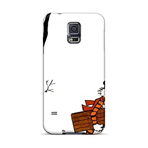 Excellent Galaxy S5 Case Tpu Cover Back Skin Protector Calvin And Hobbes Winter